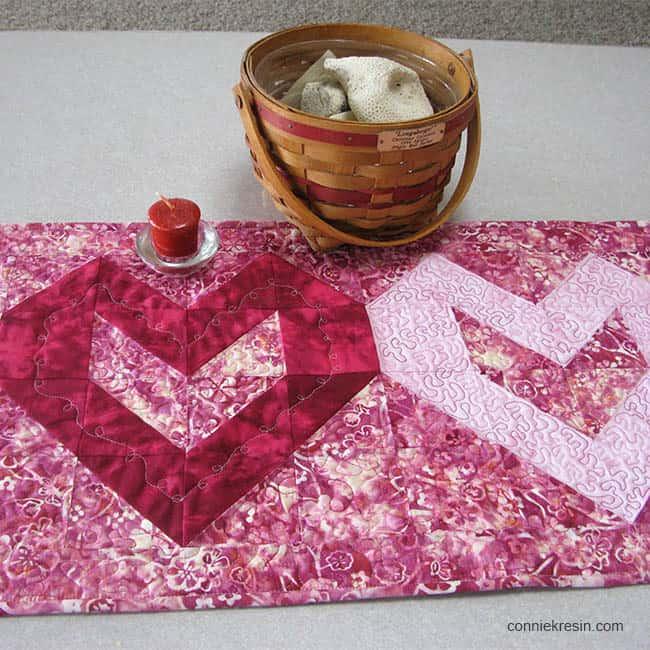 Valentine Tablerunner Tutorial closeup