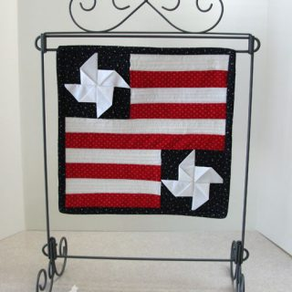 Mini Wall Hangings in red white and blue