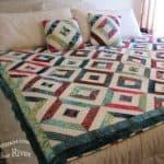 Pillows match Petunia Strings Quilt