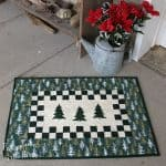 Evergreen Trees Table Topper