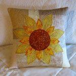 Daisy May Sunflower Pillow