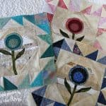 Teal Flower Block Tutorial
