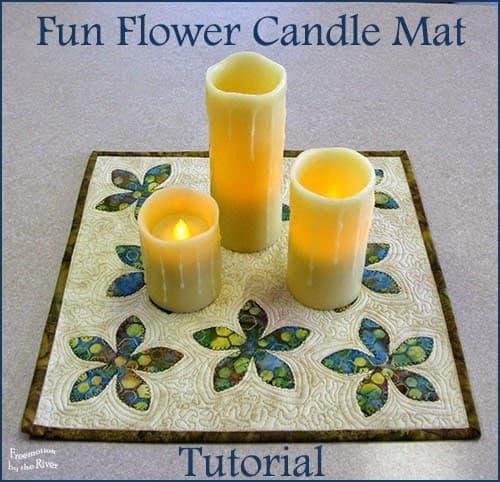 Fun Flower Candle Mat