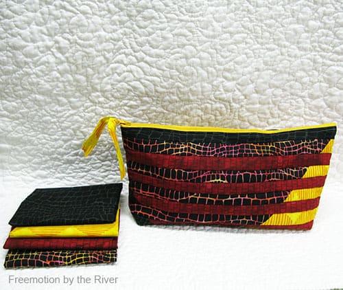Interleave Pouch in Batiks