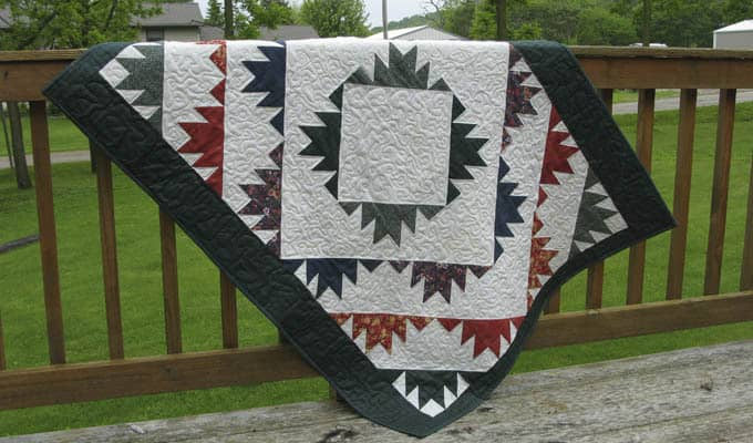Delectable Mountains Free Quilt Block Pattern