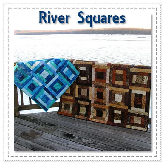 River Squares Quilt Pattern