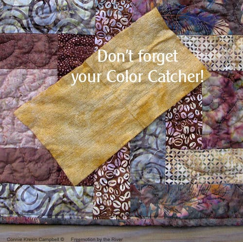 River Squares Quilt Pattern for a wheelchair color catcher