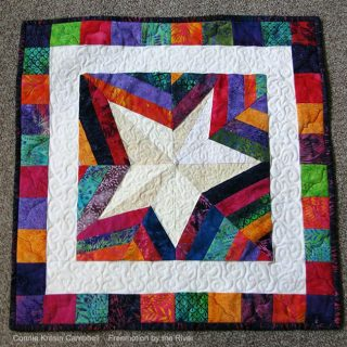 Wonky Paper pieced Star quilt