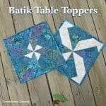 Batik Table Toppers