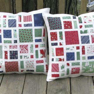 Scattered Christmas pillows