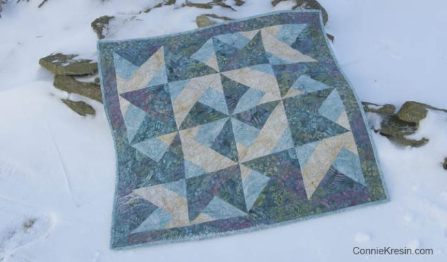 Batik Table Topper Tutorial in Teal