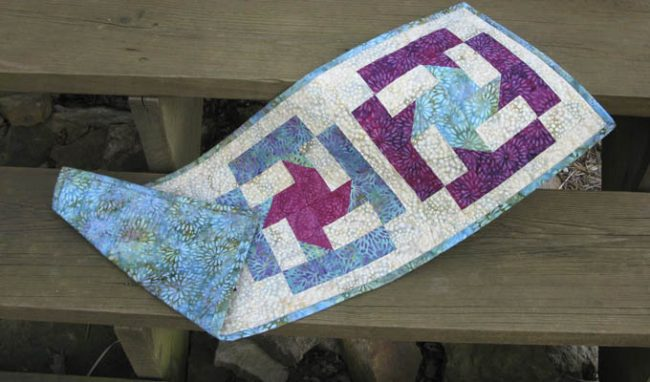 Island Batik Coastal Mist Table Runner Tutorial
