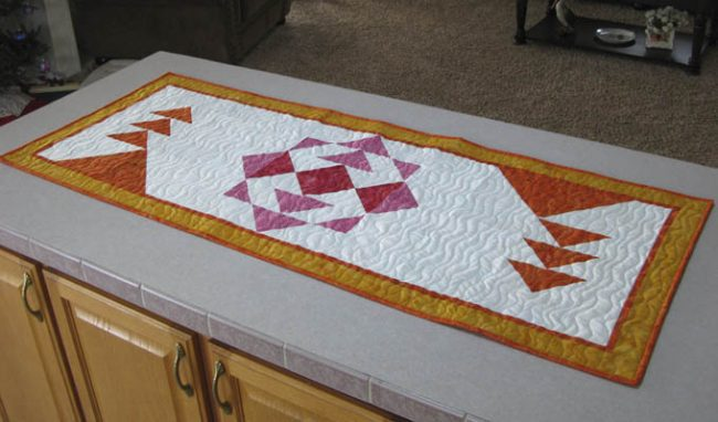 Sunshine Table Runner in Modern Quilts Unlimited