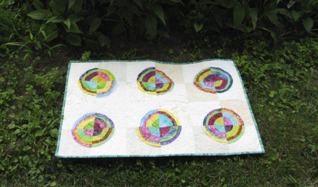 Bullseye Batik Quilt