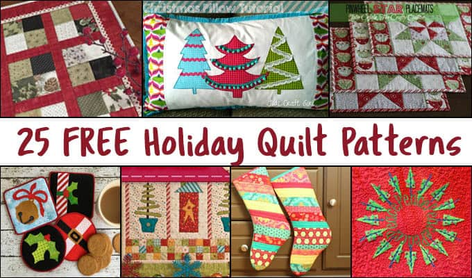 25 free christmas quilt patterns  u2022 freemotion by the river