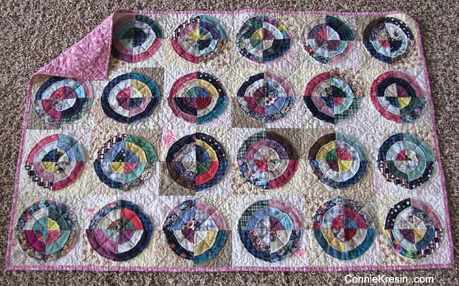 Bulls Eye Baby Quilt easy to make