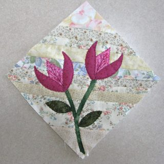 Pets on Quilts Strip Flowers