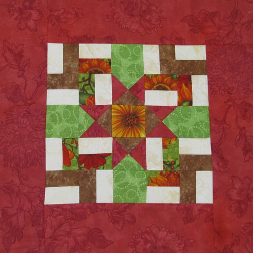 Windblown Ohio Star layout with border