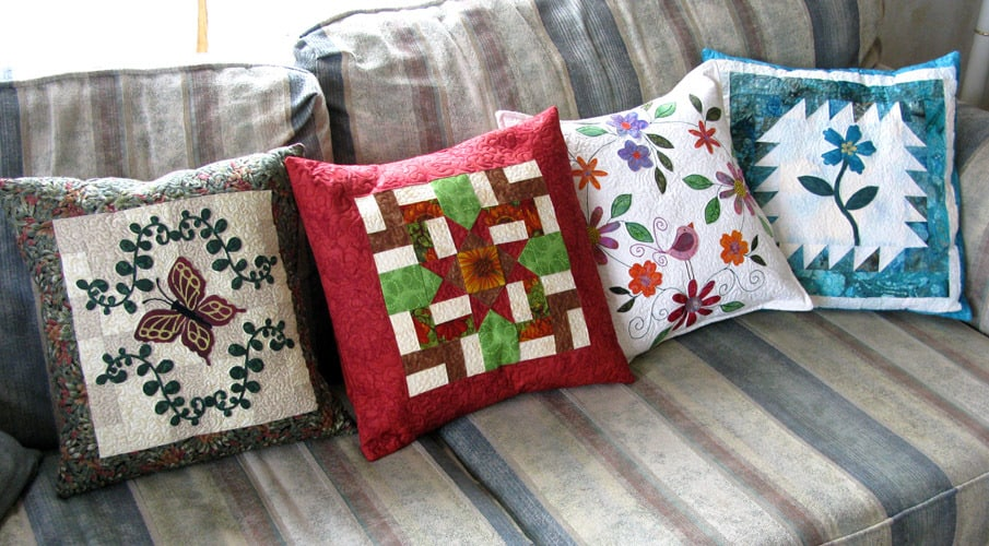 Quilted pillows from tutorials