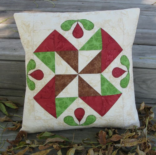 Half Square Triangle Applique Pillow Tutorial