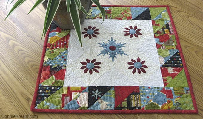Winter Snowflake Table Topper Tutorial