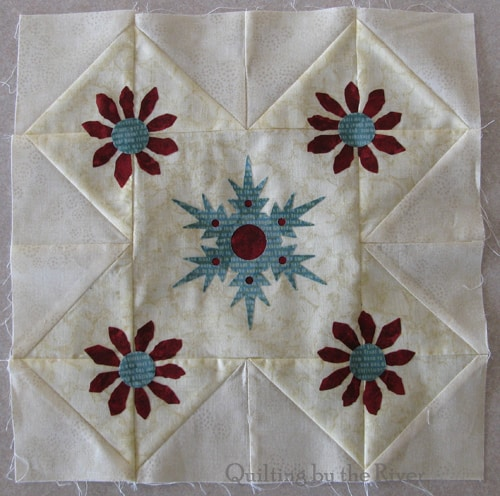 Applique ready to quilt