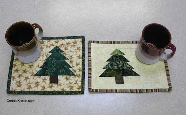 Christmas Tree Mug Rug Tutorial