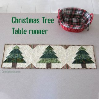 Christmas quilt pattern Tree tablerunner tutorial