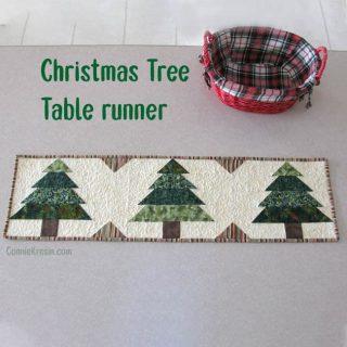Christmas quilt pattern Tree tablerunner tutorial