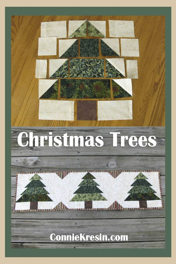 Easy to make Christmas Tree tablerunner