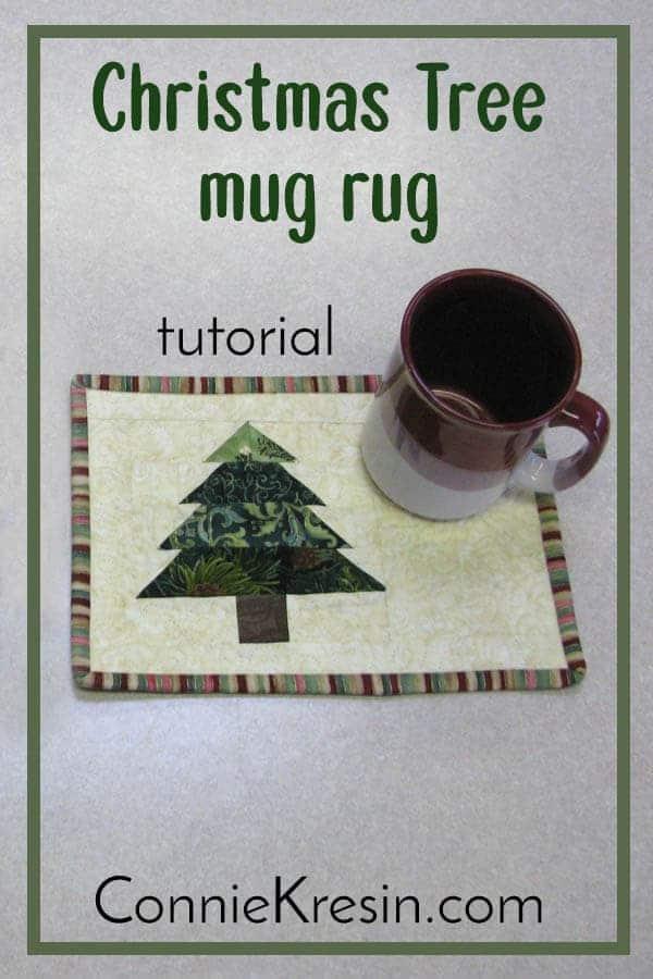 Christmas Tree quilt pattern for mug rug