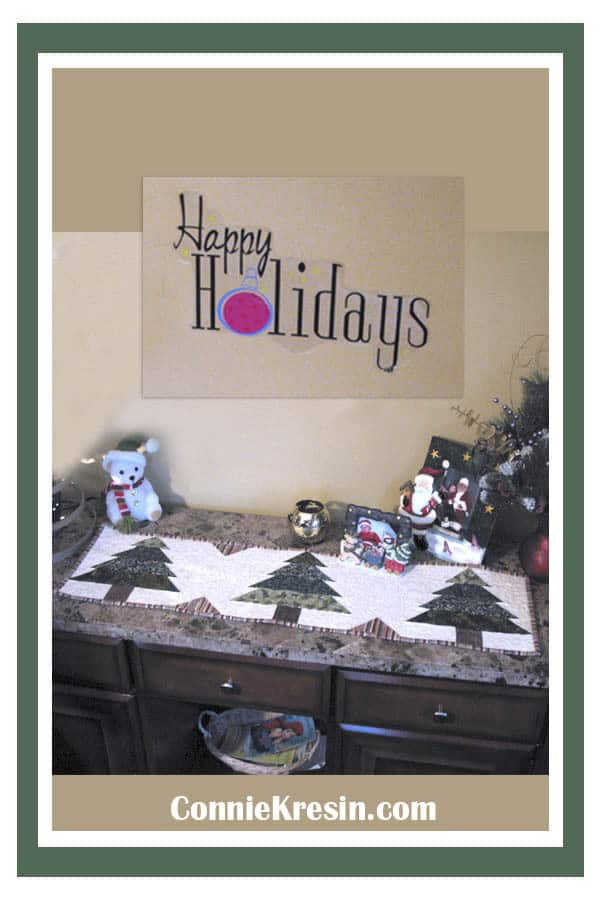 Christmas Tree table runner tutorial
