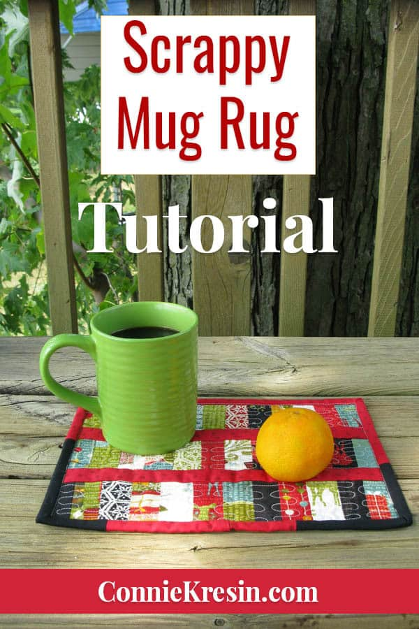 Scrappy Mug Rug tutorial