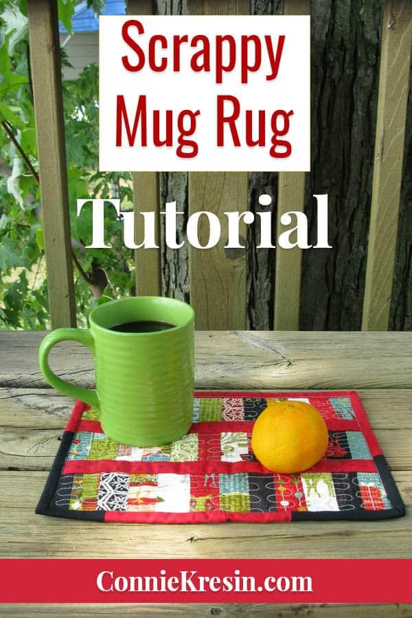 Scrappy Mug Rug tutorial