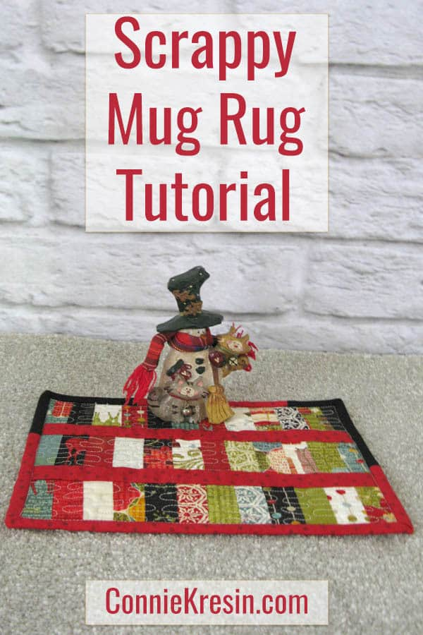 Scrappy Christmas Mug Rug tutorial