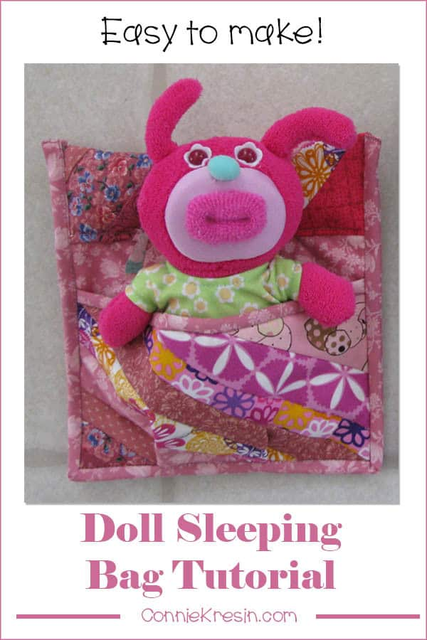 DIY Tutorial for a little sleeping bag for dolls or stuffed animals