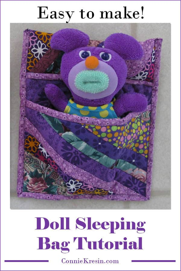 Cute stuffed animal or doll sleeping bag tutorial