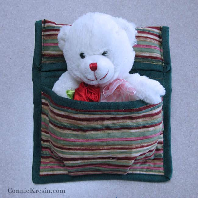 Doll Sleeping Bag Tutorial with bear