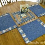 Table topper and 3 place mats