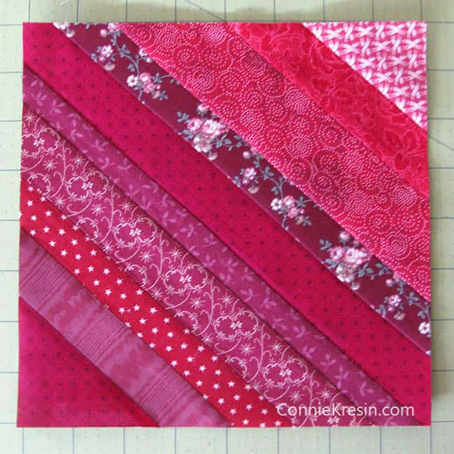 Red String table runner tutorial block trimmed