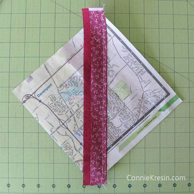 Red String table runner tutorial starting with phone book paper