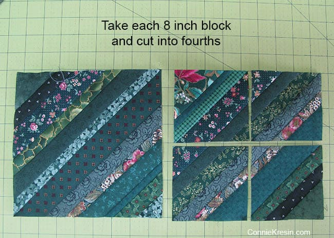 String Bean Table Runner Tutorial cut blocks