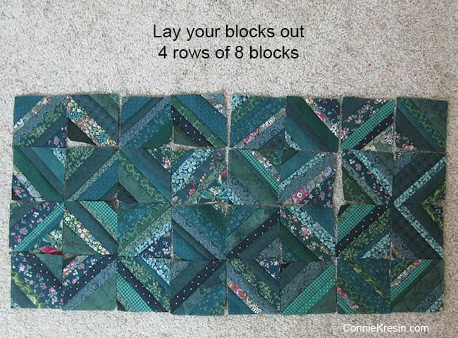 String Bean Table Runner Tutorial layout blocks