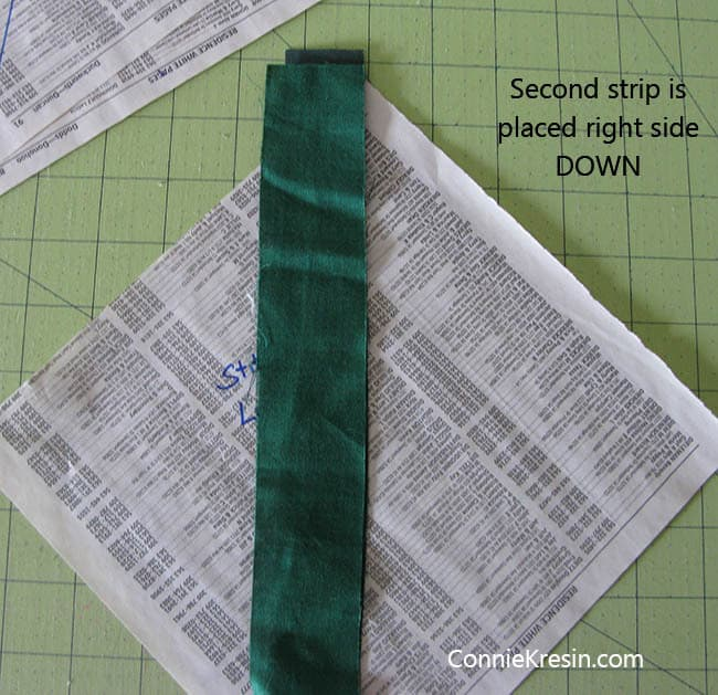 String Bean Tablerunner Tutorial sew strings press open