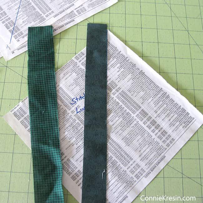 String Bean Tablerunner Tutorial sew strings