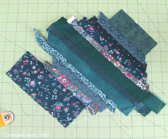 String Bean Tablerunner Tutorial strings sewn