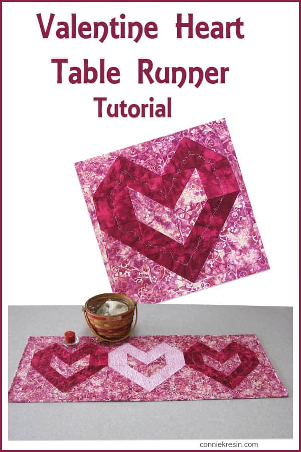 Valentine Heart Table Runner Tutorial