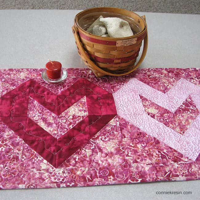 Valentine Tablerunner Tutorial closeup
