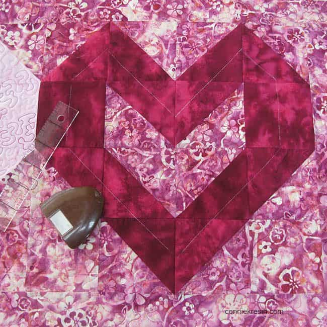Marking quilting lines