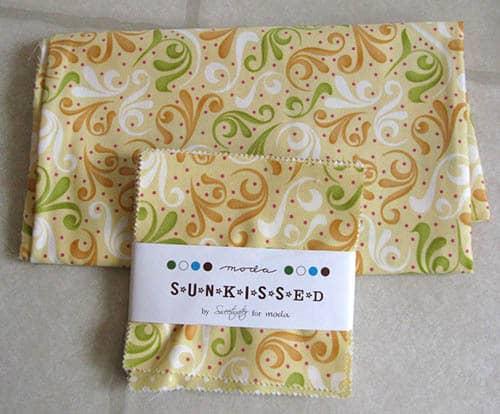 Orange Kissed Tablerunners tutorial fabric Sun Kissed